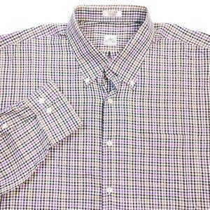 Peter Millar Plaid Button Down Shirt Sz XL EUC